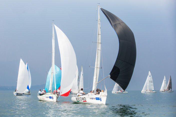 Nella foto: Immegine del Campionato Italiano di vela classe Dolphin 81 a Desenzano sul Garda (BS) anno 2016