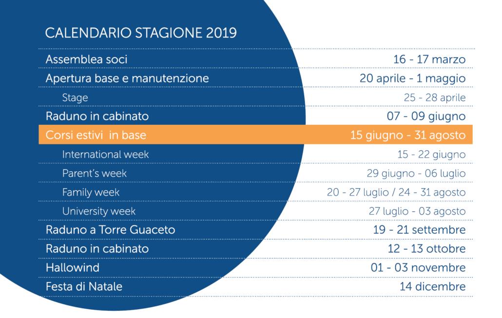 Calendario 31 Luglio 2019.Calendario Eventi 2019 Centro Velico Torre Guaceto