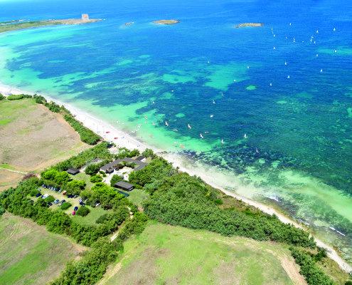 Centro Velico Torre Guaceto - Vista aerea della Base Nautica